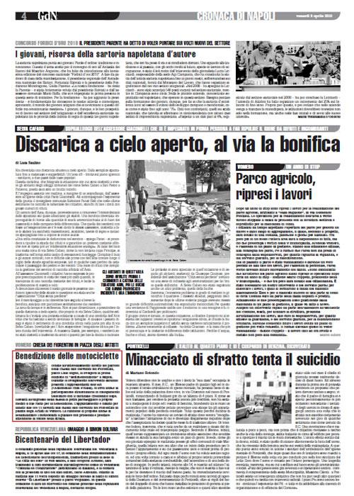 Giornale di Napoli – Il Roma – Benedizione delle motociclette