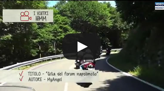 NapoliMoto su Born to ride, programma televisivo Mediaset