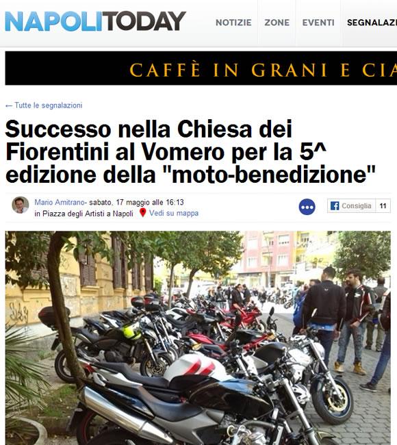 NapoliToday: Successo nella Chiesa dei Fiorentini al Vomero per la 5^ edizione della moto-benedizione