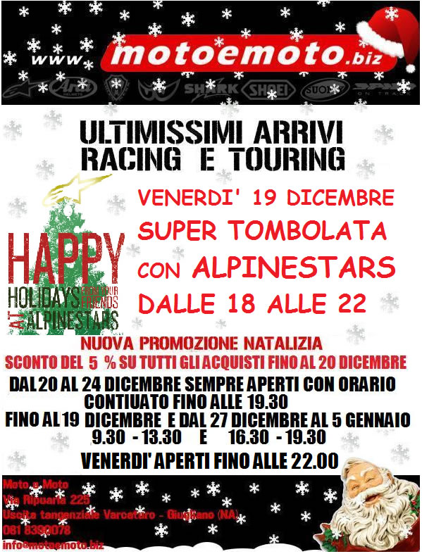 Tombolata Happy Holidays da MotoeMoto
