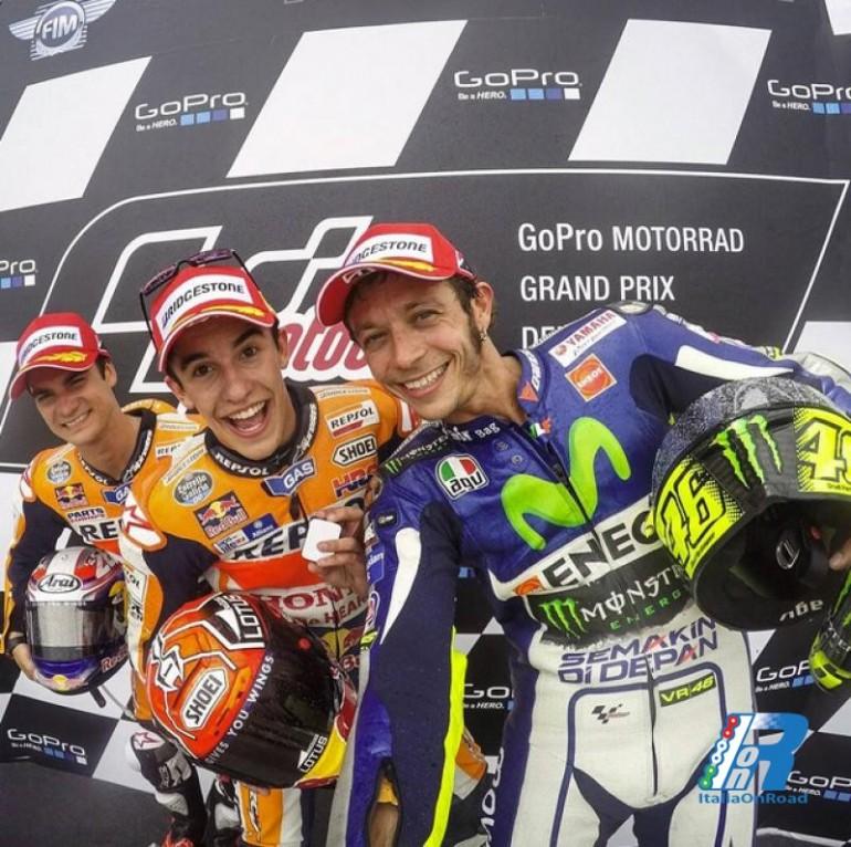 Marquez dominio assoluto al Sachsenring, segue Pedrosa e Rossi