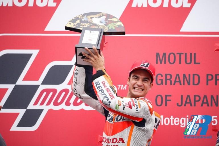 MotoGP Motegi: Pedrosa scala la vetta del podio, Rossi e Lorenzo seguono