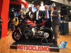 MV Agusta Brutale 1000 serie oro la moto più bella del del salone